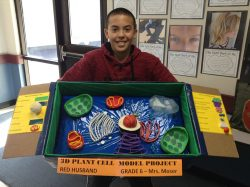 Student with model project